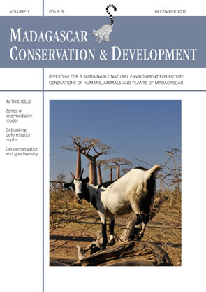 Volume 7 Issue 3. 2012. Journal Madagacsar Conservation & Development